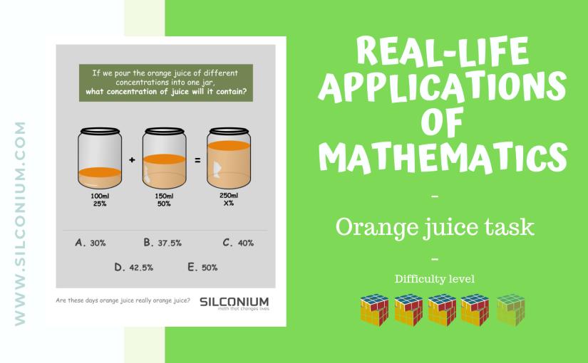 Healthy life – juice concentrationproblem